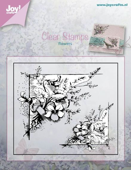 6410/0380 ~ PUNCH FLOWER CORNER ~ JOYCRAFTS CLEAR STAMP